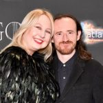 Ben Crompton with his wife Liv Lorent