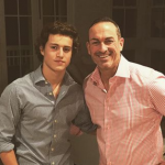 Brandon Spink with his father