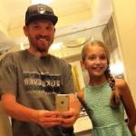 Brynn Rumfallo with her father Aaron Rumfallo