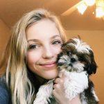 Brynn Rumfallo with her pet dog