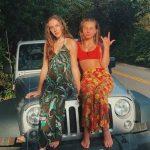 Caitlin Carmichael with her jeep carl