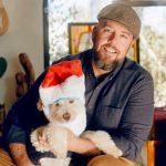 Chris Sullivan with his pet dog