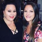 Chrissy Metz with her sister Abigail Hillary