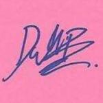 Dalila Bela signature