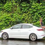 Damaris Lewis with her car