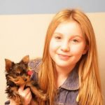 Ella Anderson with her pet dog