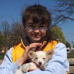Ella Lee with her pet