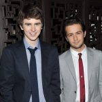 Freddie Highmore with his brother Bertie Highmore