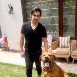 Gautam Gambhir with his pet dog
