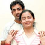 Gautam Gambhir with his sister Ekta Gambhir