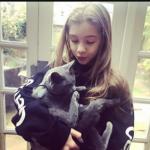Georgia Pemberton with her pet cat