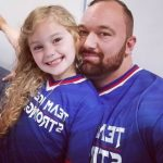 Hafthor Bjornsson with daughter Theresa Lif