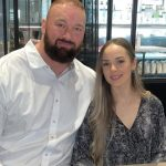 Hafthor Bjornsson with his wife Kelsey Henson