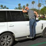 Howie Mandel with his Range Rover car