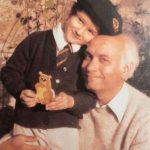 Indira Varma with her father