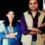Javagal Srinath with his girlfriend Madhavi Patravali