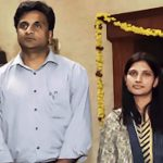 Javagal Srinath with his wife Madhavi Patravali