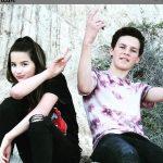 Jules LeBlanc with her brother Caleb LeBlanc
