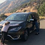 Jules LeBlanc with her car