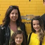 Jules LeBlanc with her mother Katie LeBlanc
