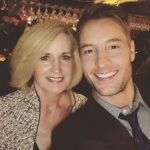 Justin Hartley with his mother Jackie Carrillo