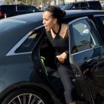 Kerry Washington with her bently car