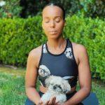 Kerry Washington with her pet dog