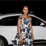 Kerry Washingtonwith her white car