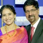 Krishnamachari Srikkanth with his wife Vidya Srikanth