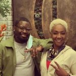 Lil Rel Howery with his mother Nancy Howery