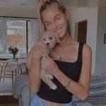 Liz Turner with her pet dog