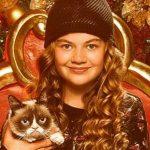 Megan Charpentier with her pet cat