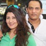 Mohammad Azharuddin with his ex-girlfriend Sangeeta Bijlani