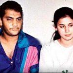 Mohammad Azharuddin with his ex-wife Naureen Azharuddin