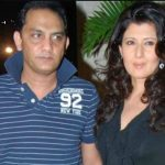 Mohammad Azharuddin with his ex-wife Sangeeta Bijlani