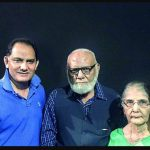 Mohammad Azharuddin with his father and mother