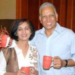 Mohinder Amarnath with his wife Inderjit Amarnath