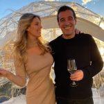 Natasha Oakley with her boyfriend Theo Chambers