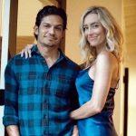 Nicholas Gonzalez with wife Kelsey Crane