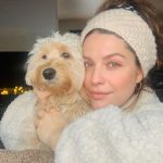 Paige Spara with her pet dog