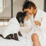 Pia Muehlenbeck with her pet dog