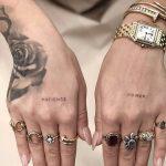Rita Ora hand tattoos