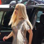 Rita Ora with her SUV car