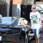 Rita Ora with her car