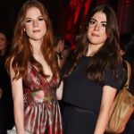 Rose Leslie with her sister Portia Leslie