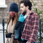 Rose Leslie with husband Kit Haring ton and son son River Harington