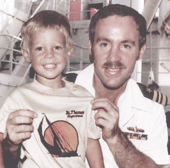 Sean Murray with his father Craig Harland Murray