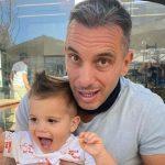 Sebastian Maniscalco with his son Caruso Jack Maniscalco