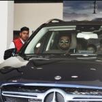 Suresh Raina with his Mercedes-Benz car