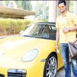 Suresh Raina with his Porese Car